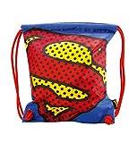 Baagl Turnbeutel - Wasserdichte Schuhbeutel für Kinder, Jungen und Herren - Schule und Kindergarten Sportbeutel, Sportrucksack (Superman - Pop)