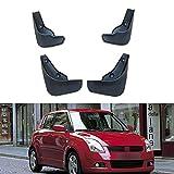 SXFYZCY Guardabarros Delantero y Trasero de ABS Negro para Coche, Guardabarros, Accesorios Protectores para Suzuki Swift 2 II 2005-2010 2006 2007 2008 2009, 4 unids/Set