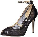 Badgley Mischka Women's Lesley Pump, Black lace, 5 M US