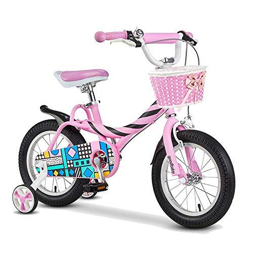 BAOMEI Kids Bike Kids Bike with Detachable Training Wheels,2-4 Years Girls 12 Inch Road Bikes