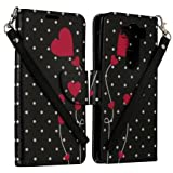 ZASE Case for LG V10 (Verizon, AT&T, T-Mobile) All-in-One Phone Wallet Case Pouch Flip Folio ID Card Holder (Black White Polka Dots Hearts)