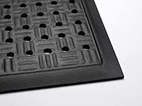 Cushion Station | Commercial-Grade Drainable Anti-Fatigue Mat - Slip Resistant, Antimicrobial, Grease and Oil Proof, Chemical Resistant, Welding Safe (Black 2' x 3.2')