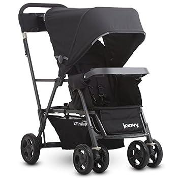 Joovy Caboose Ultralight Graphite Stroller Sit and Stand Tandem Stroller Black