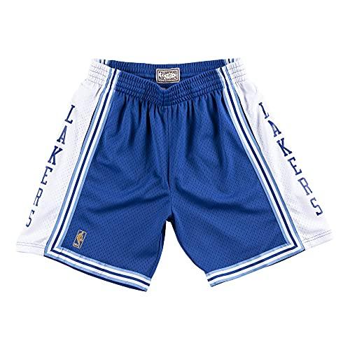 Mitchell & Ness - Pantaloncini Swingman M&N NBA Los Angeles Lakers 1996-97, Uomo, Royal, L