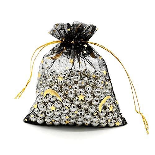 N\C 50 Glass Candy Gift Bags, Organza Bags 7x99x12cm Small...
