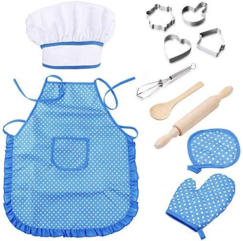 NIWWIN Kochset für Kinder, 11-TLG. Kochspielset Kinderküche Rollenspielsets