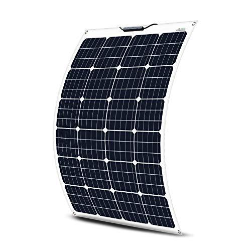 ECO-WORTHY 130W 12V Flexibles monokristallines Solarpanel Photovoltaik Batterie für Wohnmobile, Boote und Campinganlage