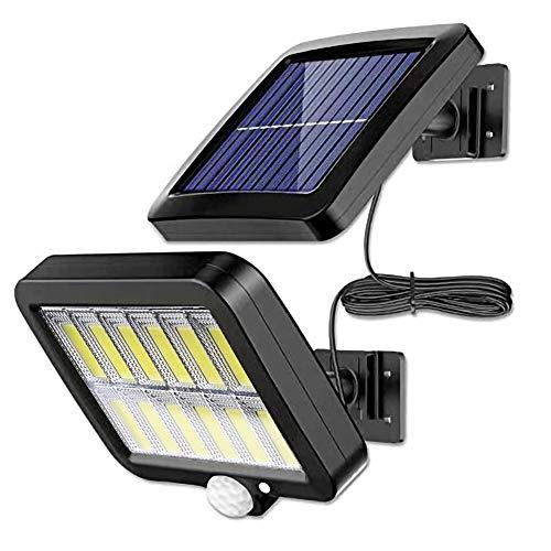 Heping 160 LED Solar Powered Wall Light Outdoor Impermeable PIR Sensor de movimiento Iluminación Parque Patio Valla Calle Jardín Decoración Lámpara (Color Emisor: 120 LED)