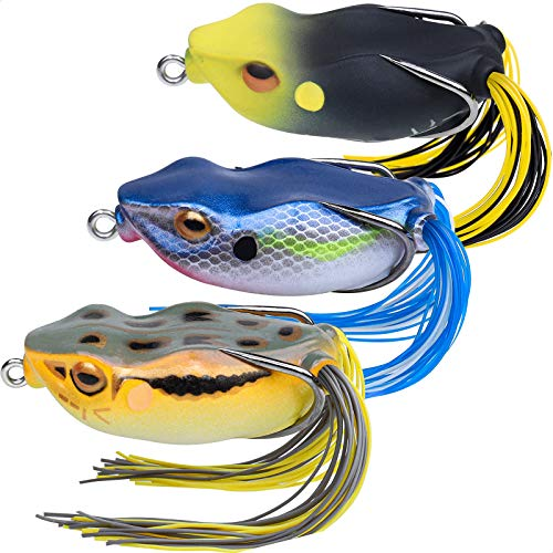 TRUSCEND Fishing Lures 276 Japan Design Swimbait Frog Topwater Soft Baits Weedless BKK Hooks for Bass Musky Trout Fishing Tackle Freshwater Floating Artificial Lifelike Lures Fishing Gifts for Men