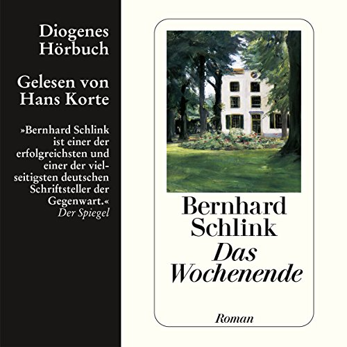 Das Wochenende                   By:                                                                                                                                 Bernhard Schlink                               Narrated by:                                                                                                                                 Hans Korte                      Length: 5 hrs and 46 mins     3 ratings     Overall 3.7