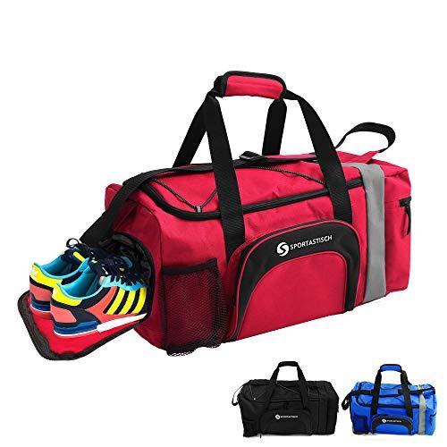 """Sportastisch Sporttasche """"Sporty Bag"""" Reisetasche Weekender mit Schuhfach, Große wasserdichte Fitnesstasche für Männer Frauen Sport Gym Reisen, bis zu 3 Jahren Garantie mit SGS-Zertifikat*"""