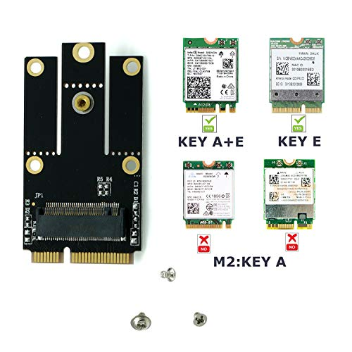 PartEGG M.2 NGFF 2230/2242 Key A/Key A+E to Mini PCIe (mPCIe) Adapter Converter Board for Intel AX200NGW 9260NGW 8265NGW 8260NGW 7265NGW DW1560Z BCM94350Z 1550ac WiFi and Bluetooth Cards