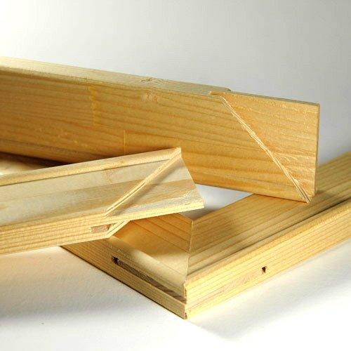 Keilrahmenleisten Set zum Selbstbau Keilrahmen 150 x 90 cm / 90 x 150 cm