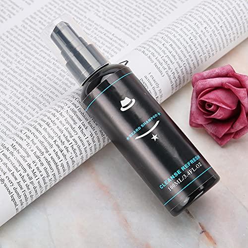 Limpie Shampoo de Barba, 3.5 * 3.5 * 14cm Coconut Oil Barba Bacteria Barba Shampoo