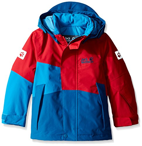 Jack Wolfskin Boys Snow Ride Insulated Jacket, 128/128 Kinder, Indian red
