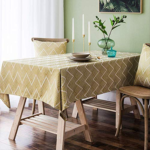ZSWFGG Tischdecke Stoff Baumwolle Klein Frisch Einfach Einfach Tischdecke Rechteckiger Couchtisch Student 130 * 220cm