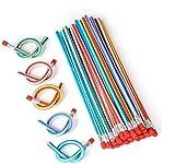 Biegebleistifte,25 pcs Bunt Biegebleistift,Flexible Biegsame Bleistifte, Biegbare Bleistifte,Biegsam Magic Biegebleistift für Kinder - Ideal Kleine Geschenke für Kinder