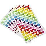 6 hojas autoadhesivas pegatinas álbum de fotos DIY pegatinas hechas a mano Scrapbooking diario decoración, forma de corazón