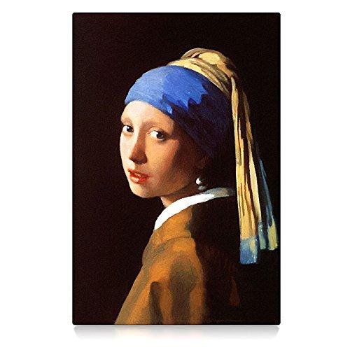 CanvasArts Das Mädchen mit dem Perlenohrring - Jan Vermeer (60 x 40 cm, Leinwand auf Keilrahmen)
