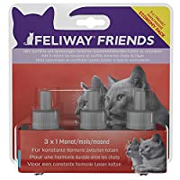 A synthetic copy of the cat appeasing pheromone that a mother naturally releases to her kittens after birth. This helps makes the kittens feel safe and secure and promotes a bond. It has the same effect on adult cats. Communicating to cats…like cats!...