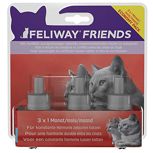 FELIWAY D89440L Friends - Pack Ahorro de 3 x 30 días, 144 ml ⭐