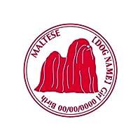 ワラ犬 マルチーズnew ステッカー Cパターン ボーイブラック