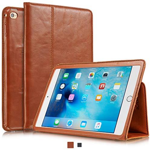 KAVAJ Lederhülle Berlin geeignet für Apple iPad Mini 5 (2019) und 4 Hülle Echtleder Hülle Cognac-Braun aus echtem Leder mit Stand & Auto Schlaf/Aufwachen Funktion. Dünnes Smart-Cover Schutzhülle