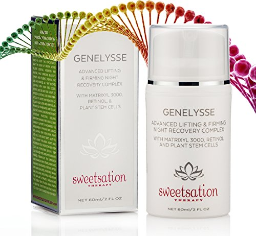 Genelysse Advanced Best Lifting and Firming Night Recovery Complex, with Matrixyl 3000, Retinol and Plant Stem Cells, 2oz.