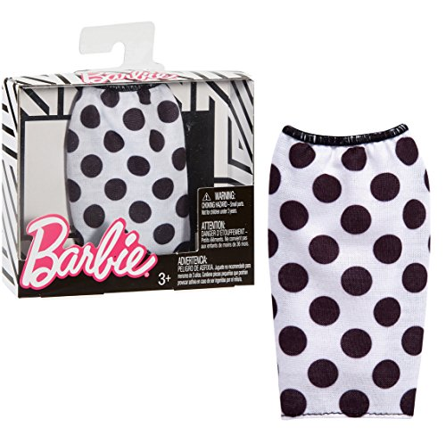 Barbie Separates Fashion Pack - Falda de lunares blanco y negro - FPH29