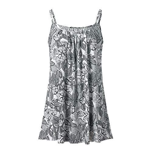 ESAILQ Damen Tops Frauen Kurzarm V-Ausschnitt Spitze Gedruckte Lose T-Shirt Bluse Oberteile Tees Shirt(XXXXL,Grün)