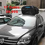 Car Top Carrier 17 cubic Bag with 8 Reinfored Straps 100% Waterproof,Car Top...