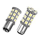 WerFamily 1157 BAY15D 24-SMD 5050 White LED Light Bulbs for Car Auto Brake Turn Signal Taillight Parking Light (Pack of 2)