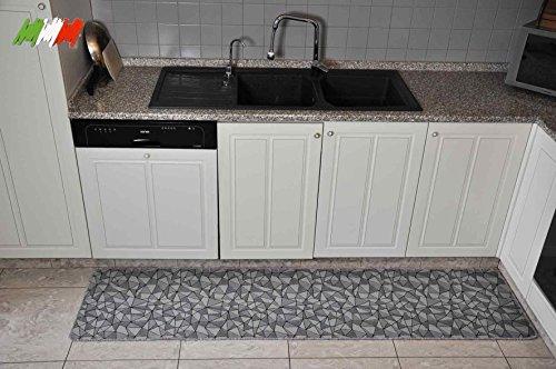 Casatessile Cocina Amplia Alfombra de Plata 50 cm. - VAR. 1, 250 cm.