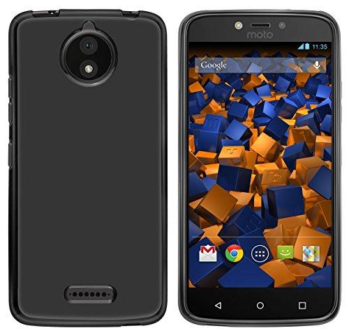 mumbi Hülle kompatibel mit Lenovo Moto C Plus Handy Hülle Handyhülle, schwarz