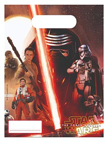 6 Partytüten Star Wars VII für Kinder-Geburtstag und Motto-Party