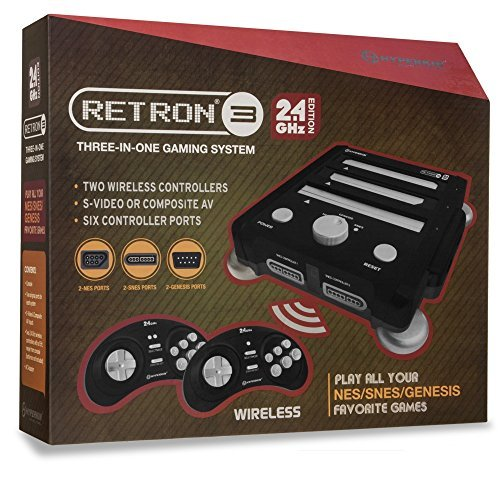 Hyperkin RetroN 3 Gaming Console 2.4 GHz Edition for Super NES/ Genesis/ NES (Onyx Black)