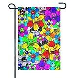 EW-OL Willkommen Garten Flagge einseitig 12 'x 18', Fahnen für Outdoor Home Decor Dekoration. Flower Power