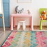 Tapete Alfombra Decorativo Multicolor Medida 2.30 X 1.60 Ideal para Recamara Infantil
