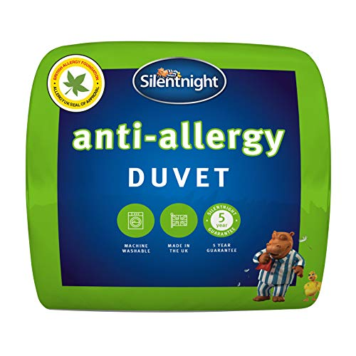 Silentnight Anti-Allergy Duvet, 4,5 Tog Duvet, Microfibre, Single, Anti-Bacterial Quilt
