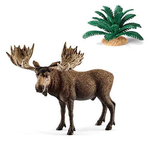 Wildlife Schleich 14781 Elch Bulle + 42244 Farn