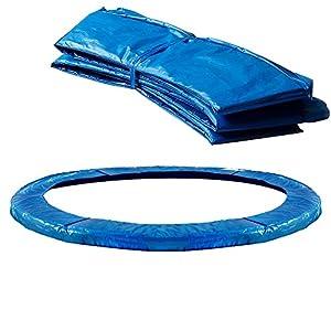 Monzana Deuba Cojín de protección Azul de PVC Cubierta para Cama elástica Borde resortes trampolín de 244 cm Exterior