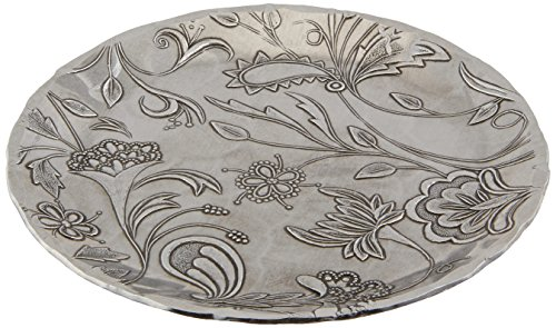 Wendell August Tracery Coaster, Hand-hammered Aluminum, Keeps Tabletops Safe, 4.5 Inch Round Coaster