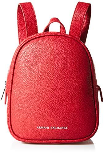 Armani Exchange A|X Damen Small Backpack Kleiner Rucksack, Roter Lippenstift, Einheitsgröße