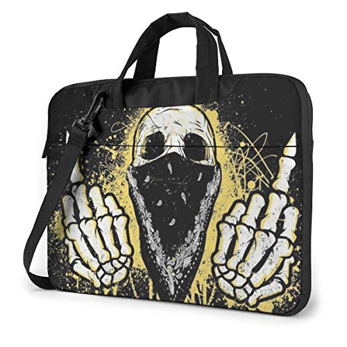 Skull Wearing A Turban Unisex Laptop Bag Messenger Shoulder Bag for Computer Briefcase Carrying Sleeve
