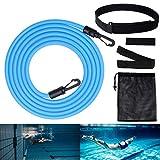 ZOYJITU Cinturón de natación para piscina con contracorriente ajustable, para entrenamiento de...