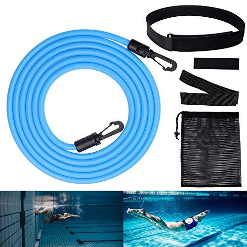 ZOYJITU Schwimmgurt für Pool Schwimmgürtel Gegenstromanlage Einstellbare Pool Schwimmtrainer für Free Swim Schwimmingpools Widerstandstraining