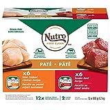 NUTRO PATÉ Adult Wet Dog Food: 6 Tender Beef, Sweet Potato & Carrot Recipe, 6 Slow Cooked Chicken, Potato, Carrot & Pea Recipe 12x100g