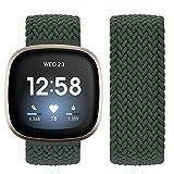 Vozehui Compatible con correa Fitbit Sense/Fitbit Versa 3, banda de repuesto elástica de nailon suave y transpirable para Fitbit Versa 3/Fitbit Sense, mujeres y hombres