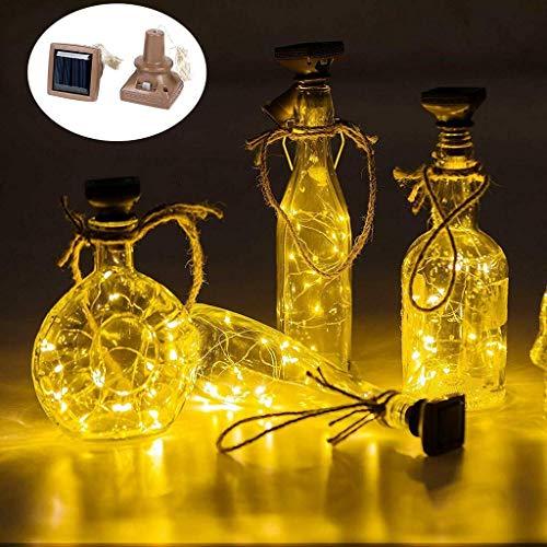 2pcs énergie Solaire en Forme de liège lumière LED lumière étoilée Bouteille de vin Lampe décor Cadeau