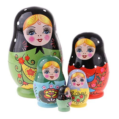 Tubayia 5/6pcs Holz Handgemachte Russische Matroschka Babuschka Puppen Handwerk Spielzeug Geschenk für Kinder